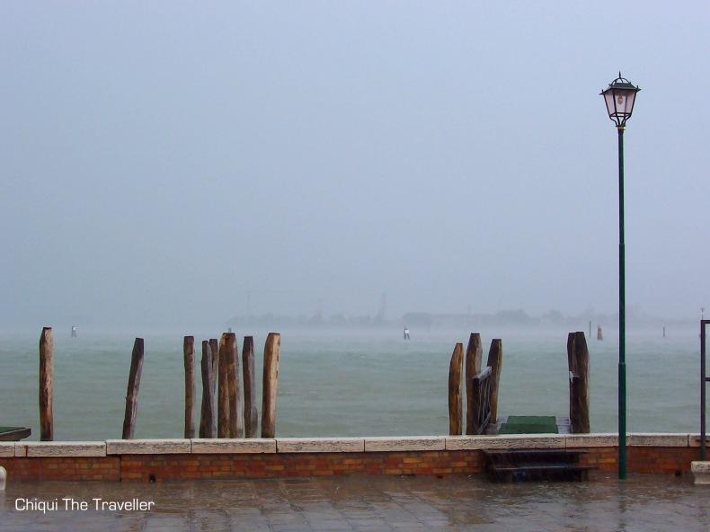 Murano Venecia lluvia canal