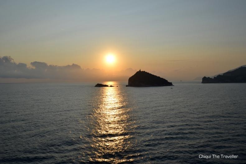Isola del Tinetto atardecer