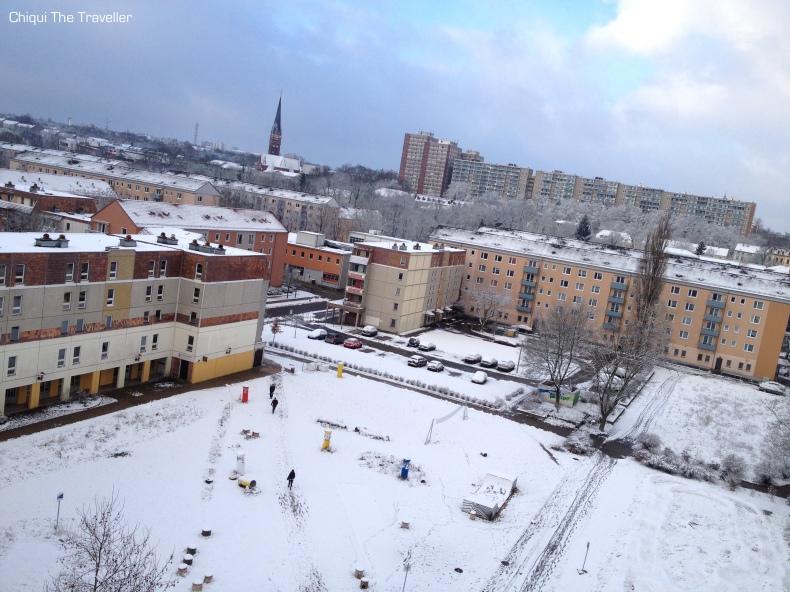 Nieve en Frankfurt Oder